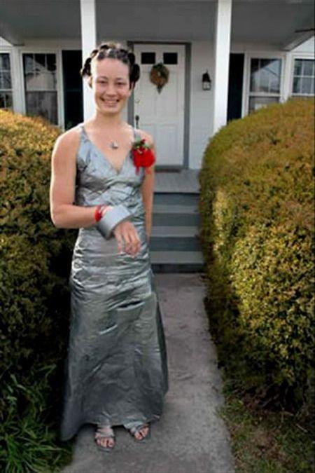 布基胶带长裙