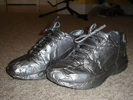 布基胶带鞋子